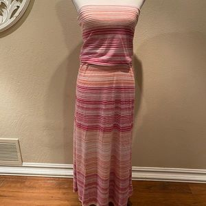 Gap striped maxi dress size XS